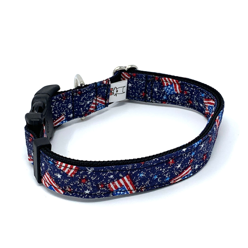 Fourth of July Glitter Dog Collar