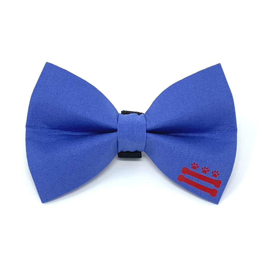 Blue D.C. Bones Dog Bow Tie
