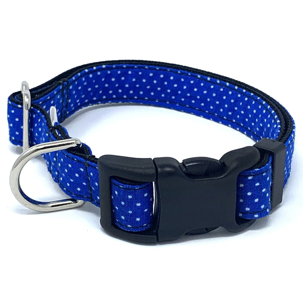 Royal Blue Polka Dot Dog Collar