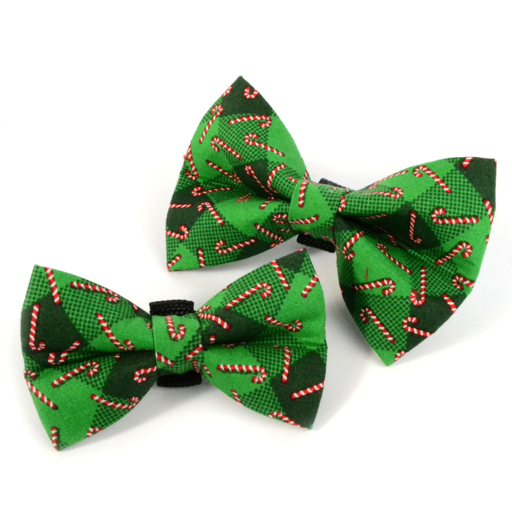 Xmas Candy Cane Dog Bow Tie