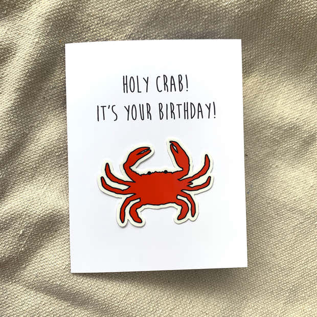 Holy Crab! It's Your Birthday Card 1