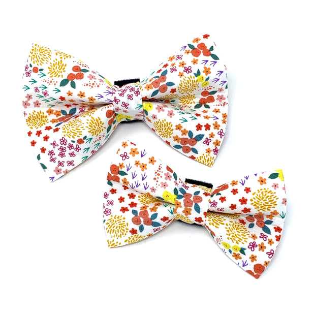 Spring Floral Dog Bow Tie 1