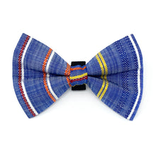 Load image into Gallery viewer, Chambray Stripe Dog Bow Tie