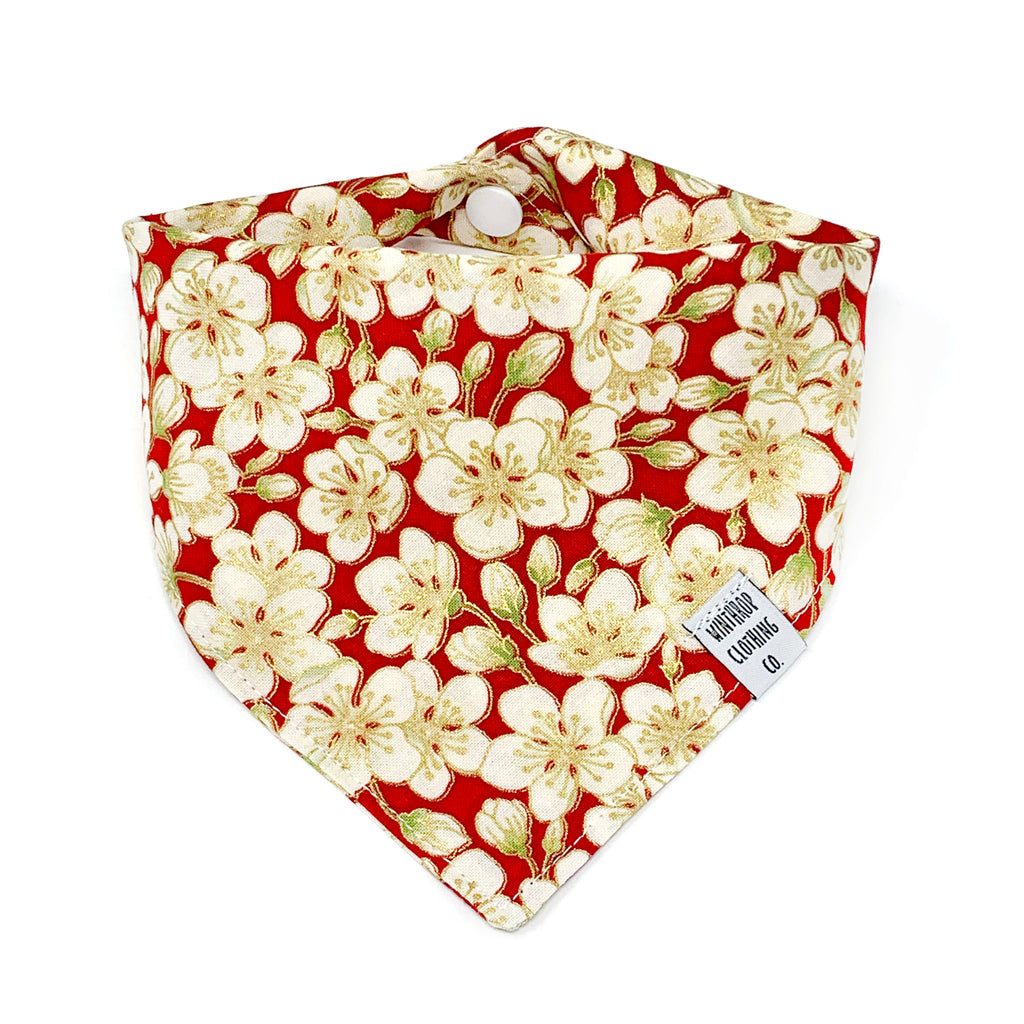 Red Blossom Dog Bandana