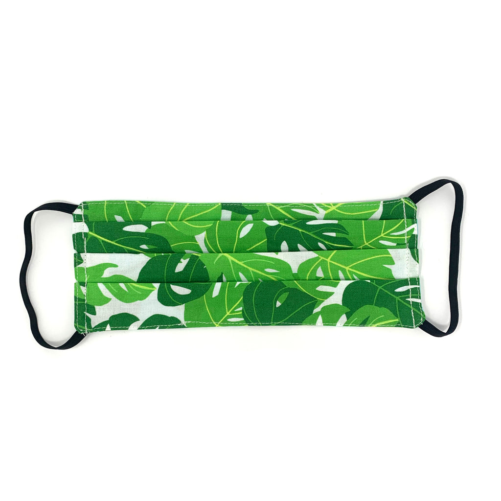 Monstera Print Face Mask