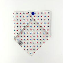 Load image into Gallery viewer, Red, White and Blue Stars Dog Bandana