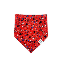 Load image into Gallery viewer, Summer Star Red Dog Bandana