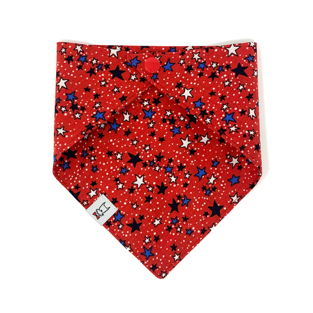 Summer Star Red Dog Bandana