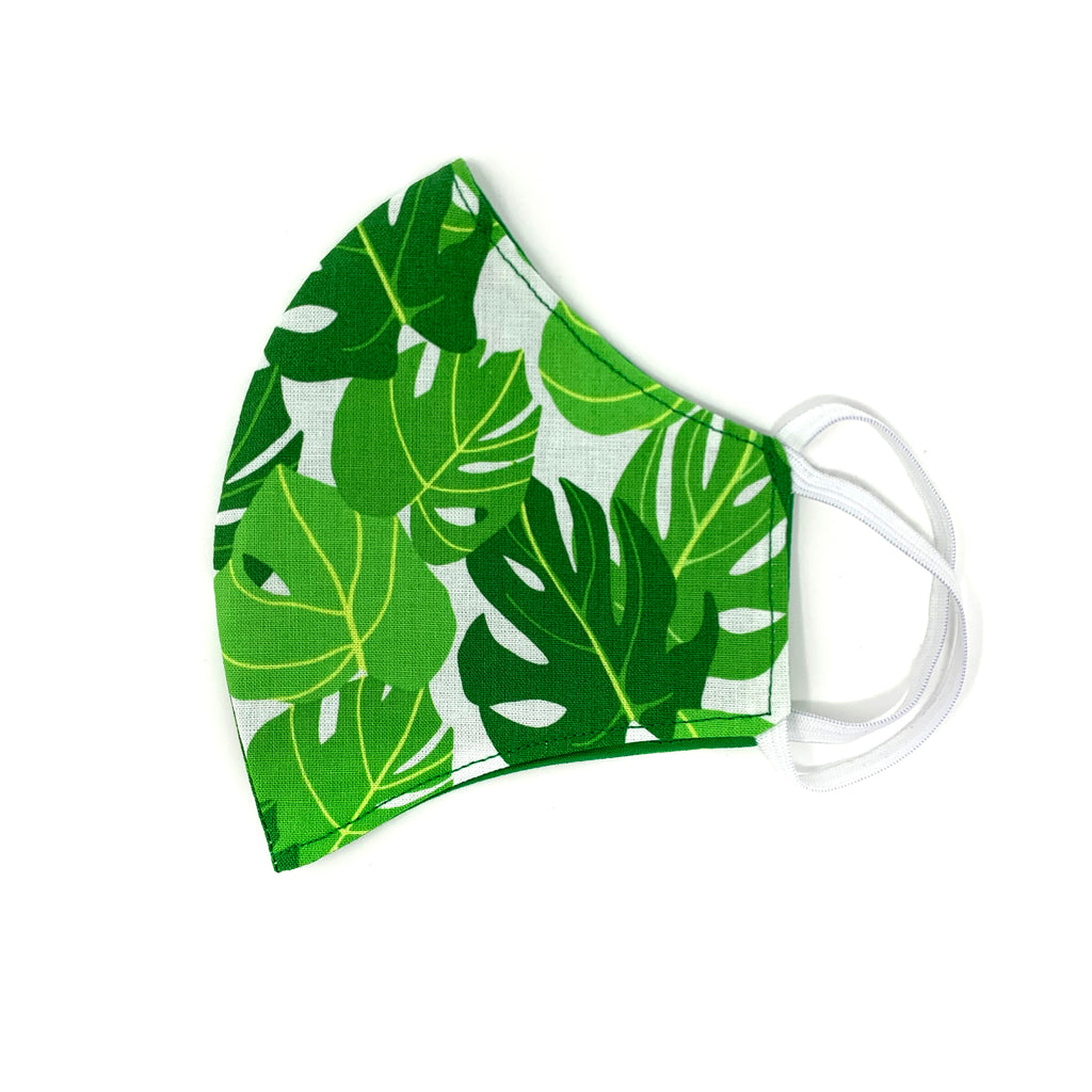 Monstera (White) Face Mask