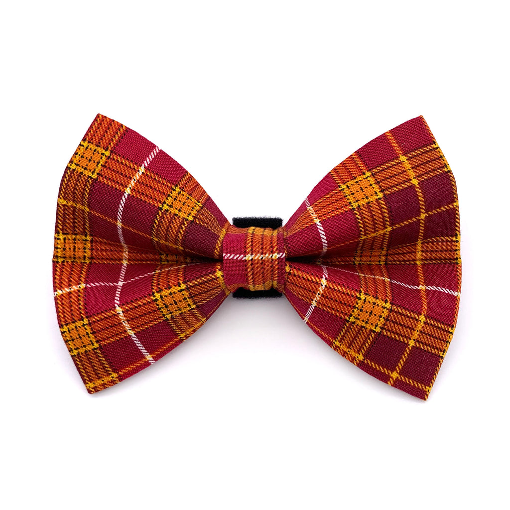 Autumn Plaid Dog Bow Tie