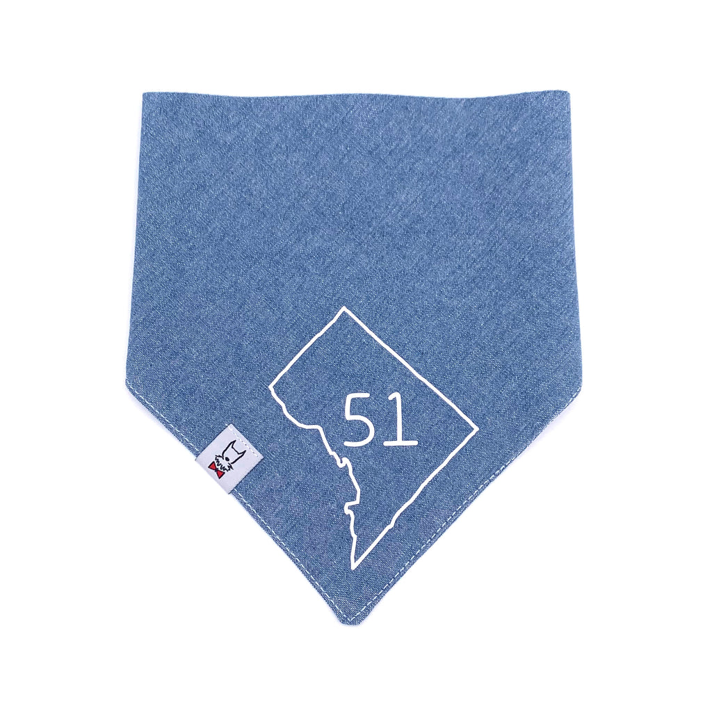 D.C. Statehood Dog Bandana