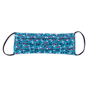 NEW Teal Mini Floral Print Face Mask