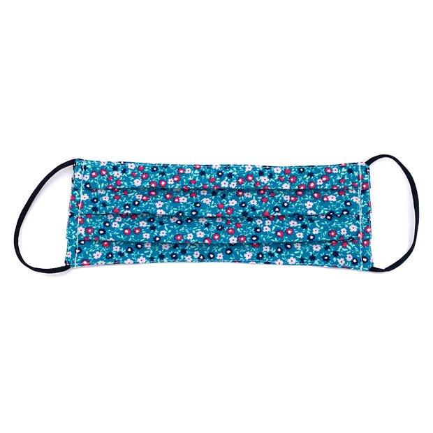 NEW Teal Mini Floral Print Face Mask 1