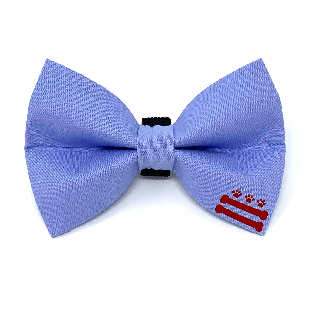 Light Blue D.C. Bones Dog Bow Tie
