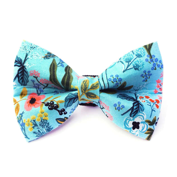 Floral Dog Bow Tie 1