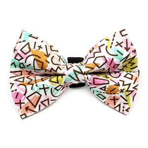 Scribbles Dog Bow Tie