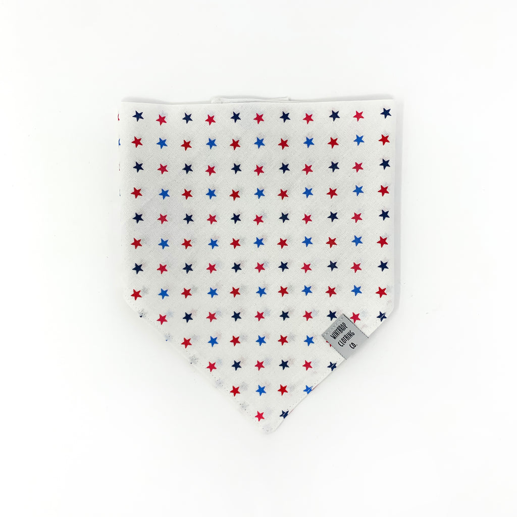 Red, White and Blue Stars Dog Bandana