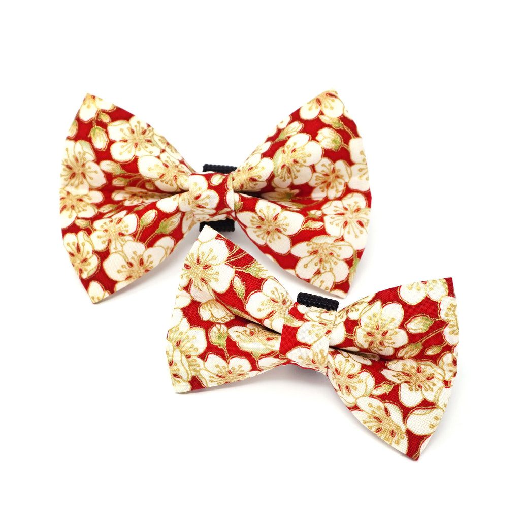 Red Blossom Dog Bow Tie