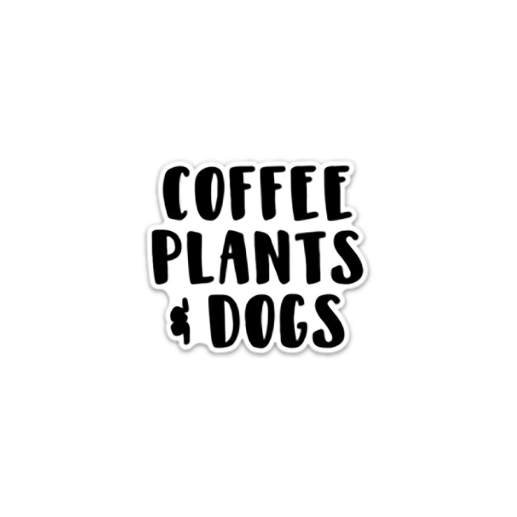 Coffee Plants and Dogs Sticker