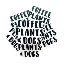 Load image into Gallery viewer, Coffee Plants and Dogs Sticker