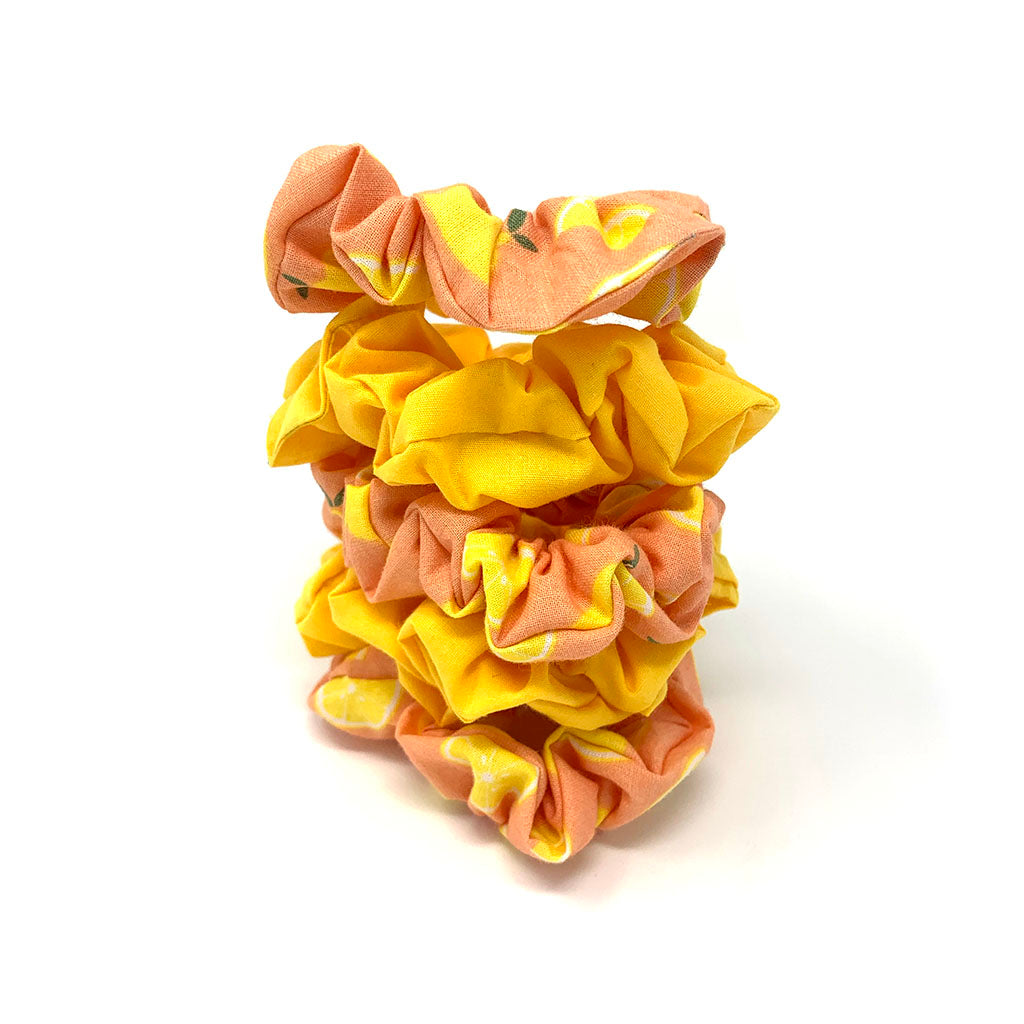 Yellow Lemon Hair Scrunchie