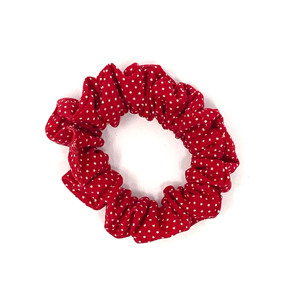 Red Polka Dot Hair Scrunchie