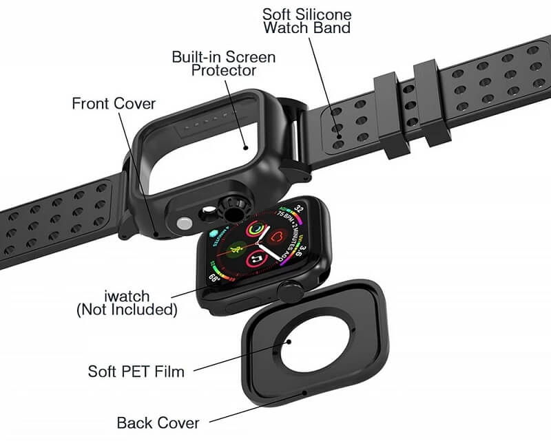 IP68 Waterproof Case Bands for Apple Watch