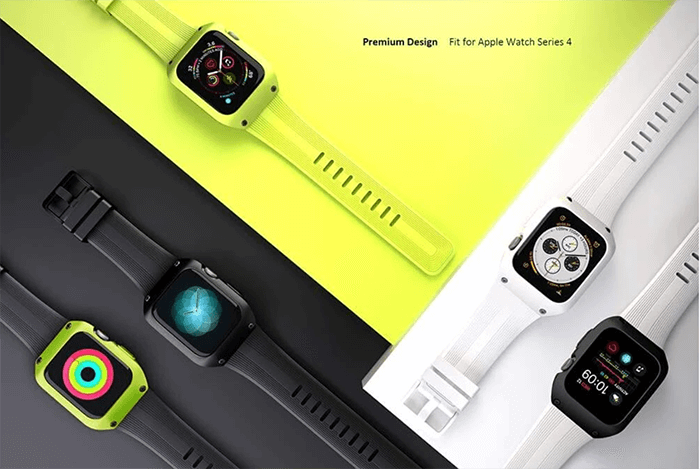 Full Protection Rugged Case Band for Apple Watch