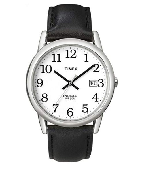 Timex Men's Watch with Leather Strap Watch