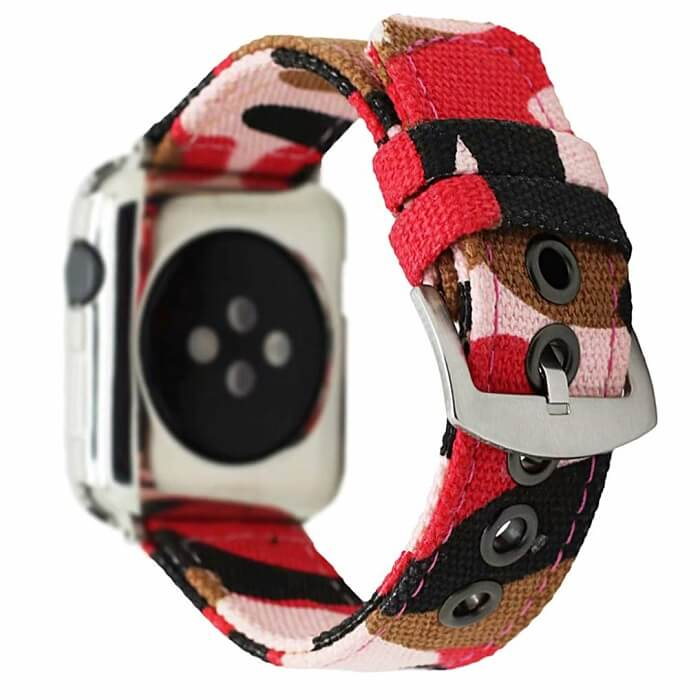 Camo Sweatproof Canvas Band for Apple Watch