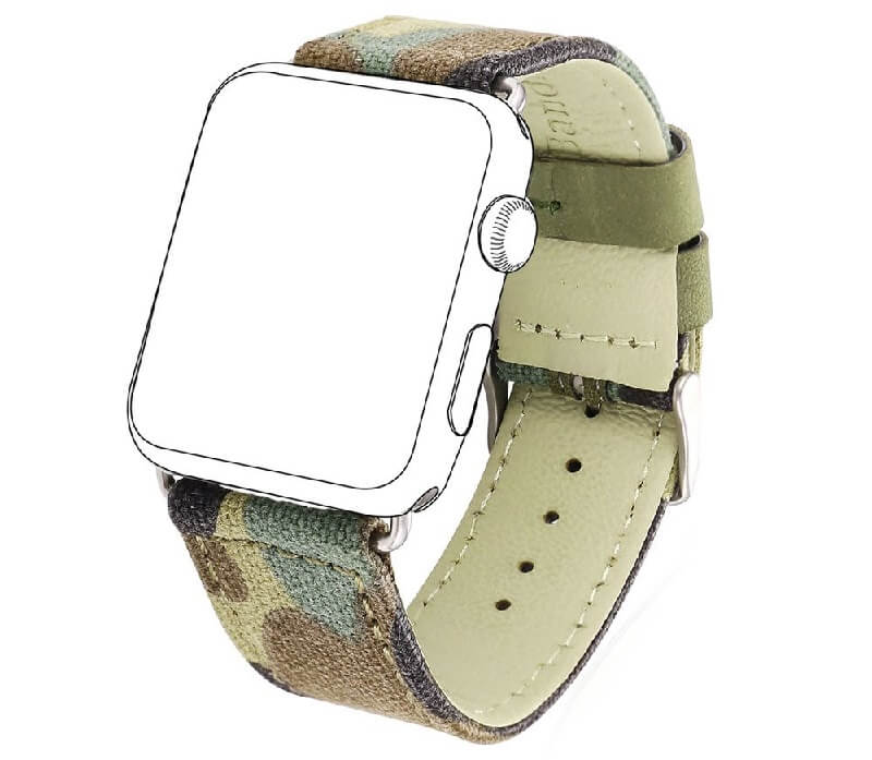 Camo Denim Fabric Replacement Strap for Apple Watch