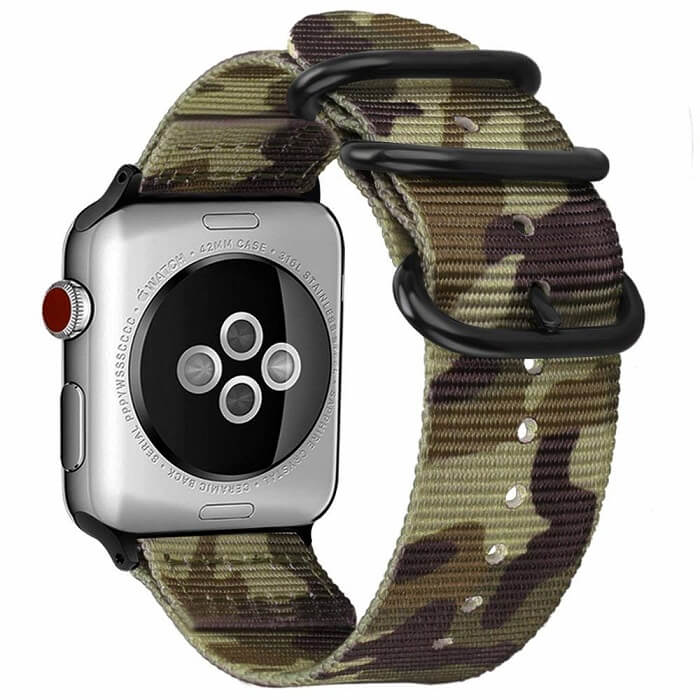Camouflage Woven Nylon for Apple Watch Band 42mm 44mm
