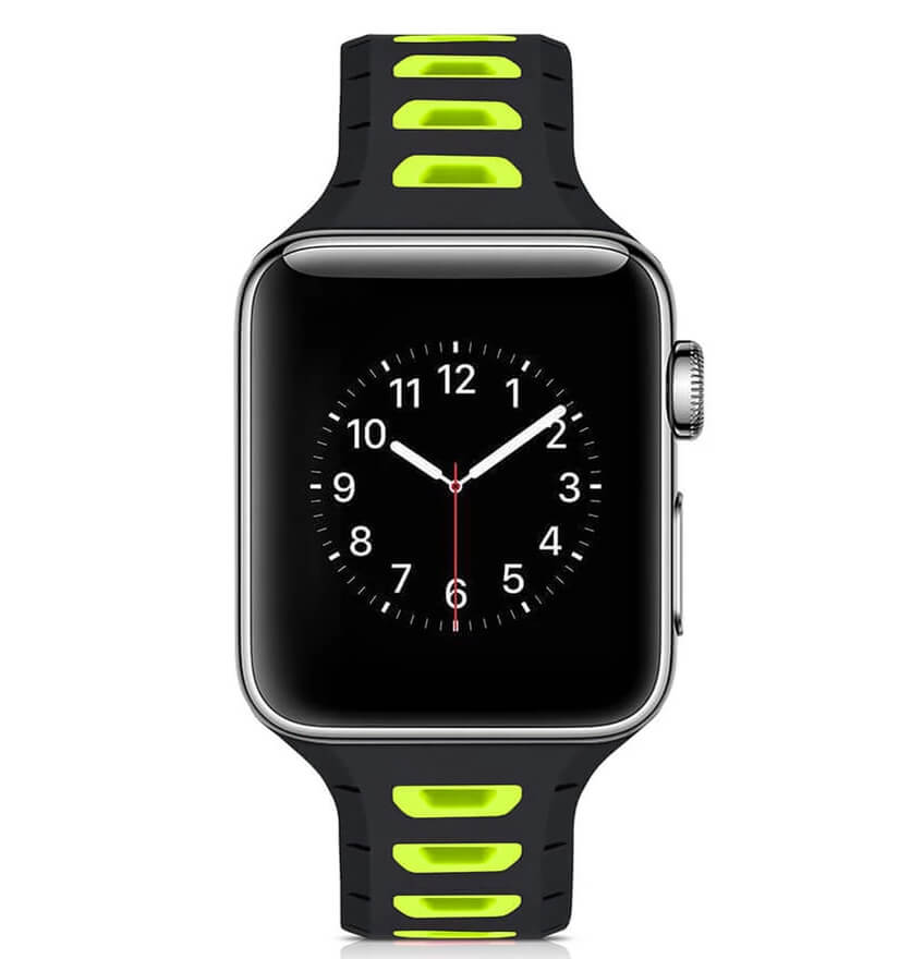 Two-Tone Breathable Silicone Straps for Apple Watch