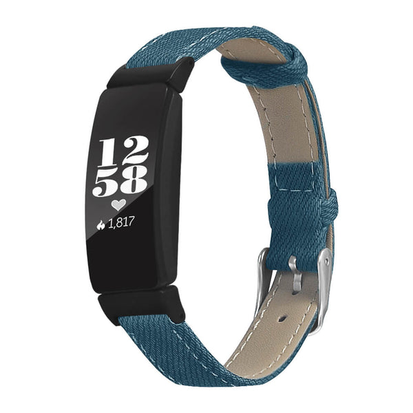 Fabric Leather Wristbands for Fitbit Inspire & Inspire HR - BandGet