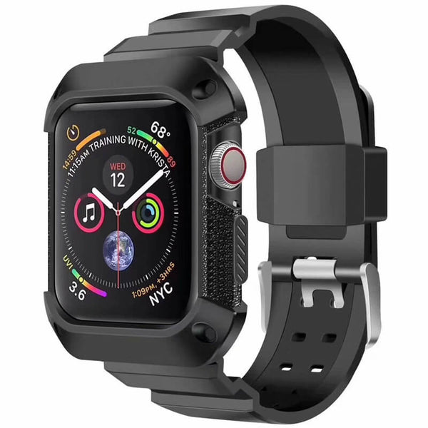 Rugged Protective Case Straps for Apple Watch 4 44mm 40mm