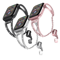 3 Pack Bling Metal Straps for Apple Watch 5/4/3/2/1 - BandGet