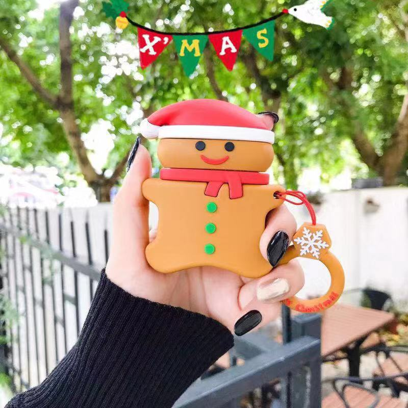 3D Cute Cartoon Silicone Case for Airpods Christmas Case Skin - BandGet