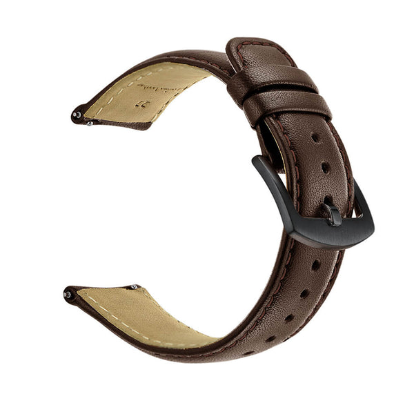 Genuine Leather Straps with Metal Clasp for Samsung Galaxy Watch 46mm - BandGet