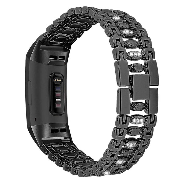 Bling Stainless Steel Bands for Fitbit Charge 3 & 3 SE