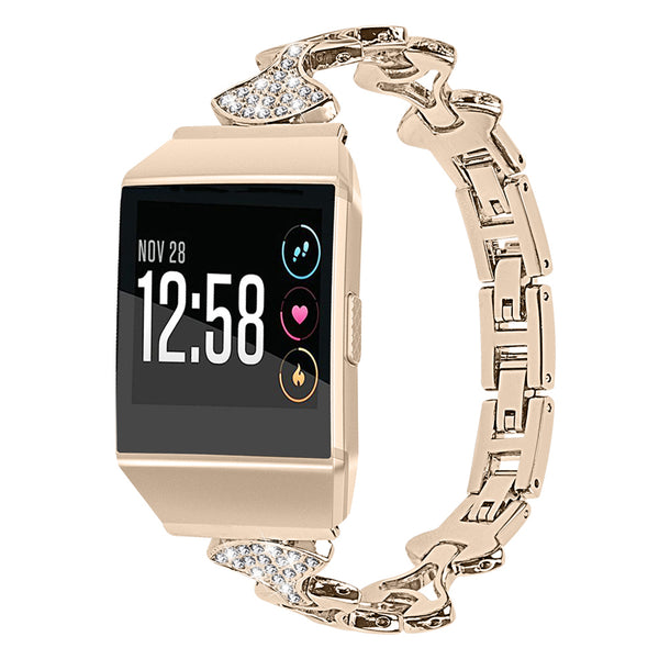 Bling Rhinestone Stainless Steel Bracelets for Fitbit Ionic - BandGet