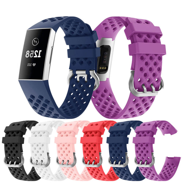 Silicone Hollow Button Band for Fitbit Charge 3 & 3 SE - BandGet