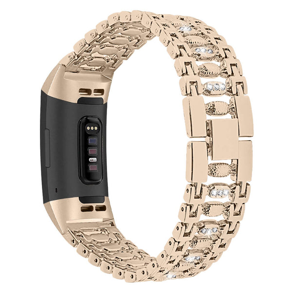 Bling Stainless Steel Bands for Fitbit Charge 3 & 3 SE - BandGet