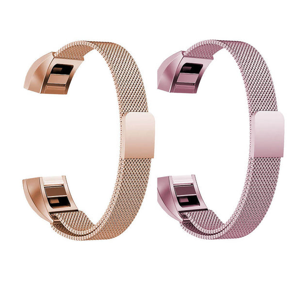 2 Pack Milanese Loop Wristbands for Fitbit Alta & Alta HR - BandGet