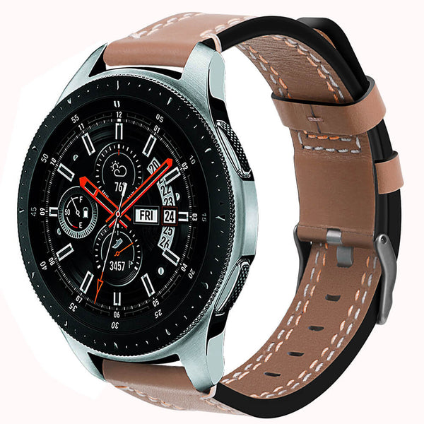 Matte Genuine Leather Straps for Galaxy Watch 46mm - BandGet