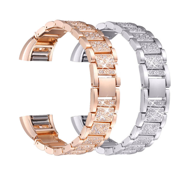 2-Pack Metal Rhinestone Bands Replacement for Fitbit Charge 2 - BandGet