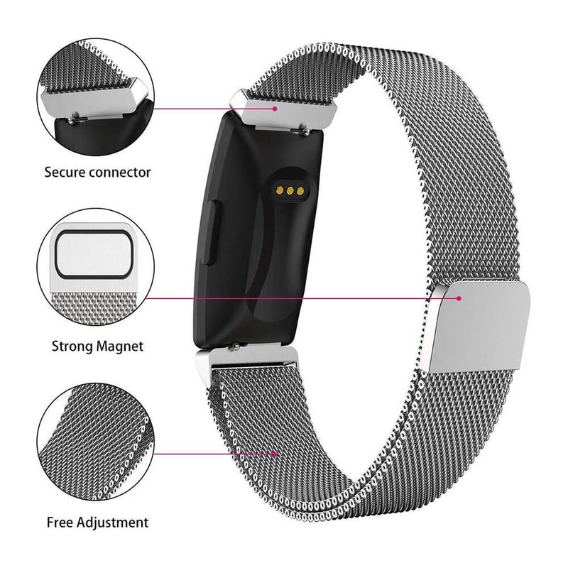 Milanese Mesh Loops for Fitbit Inspire & Inspire HR - BandGet