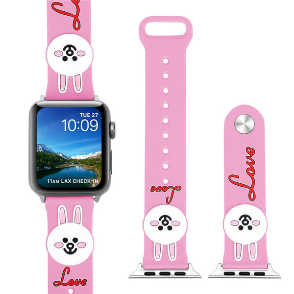Cute Cartoon Silicone Wristband for Apple Watch 4 3 2 1 - BandGet