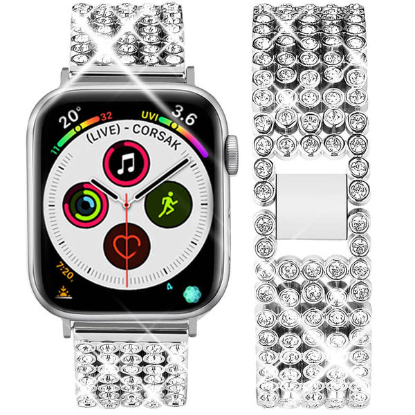 Rhinestone Metal Band for Apple Watch Series 4/3/2/1 - BandGet