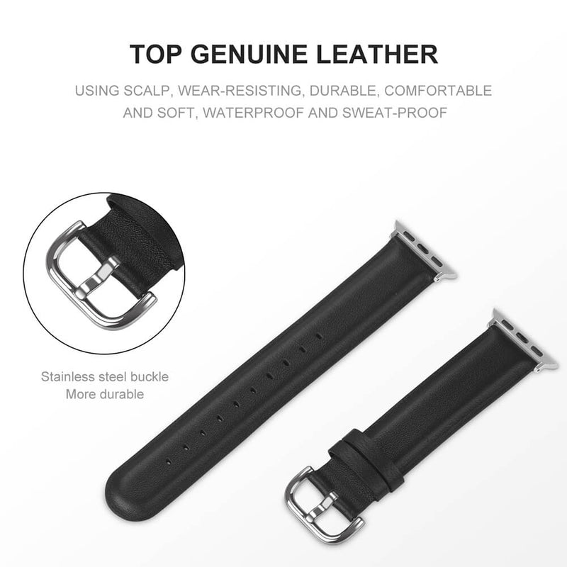 Elegant Genuine Leather Strap for Apple Watch Series 5 4 3 2 1