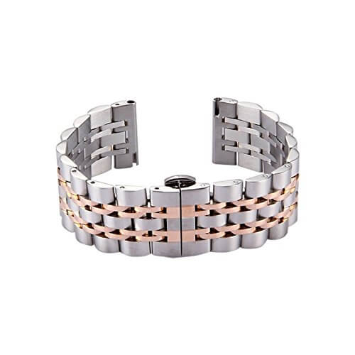 Stainless Steel Wristbands with Butterfly Buckle for Samsung Gear Sport - BandGet
